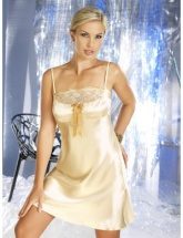 Irall Constance Lemon Satin Nightdress