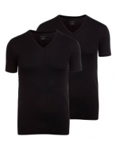 Jockey Modern Classic 2 Pack V Neck T Shirt
