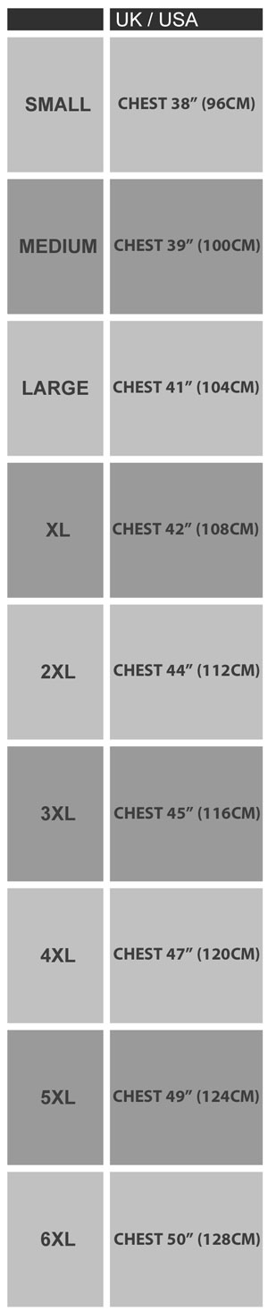 Jockey T Shirt Sizing Guide