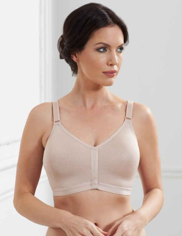 cozy fresh classic style discount shop Royce Silver Front Fasten Post Surgery Bra