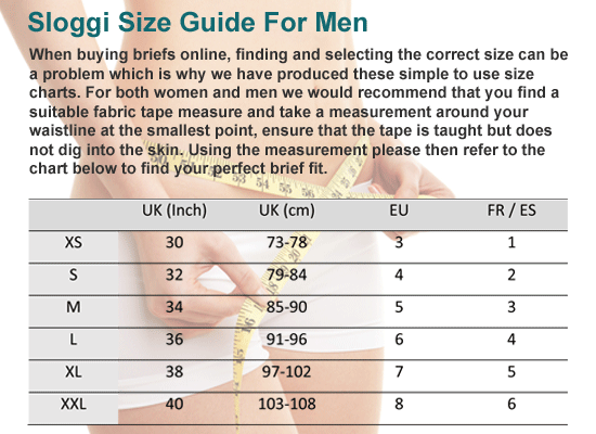 cc62bc80d4 Sloggi Size Guide And Information