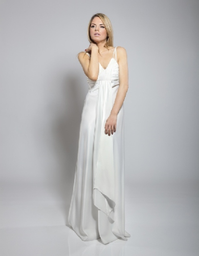 Column, straight Style Wedding Dress